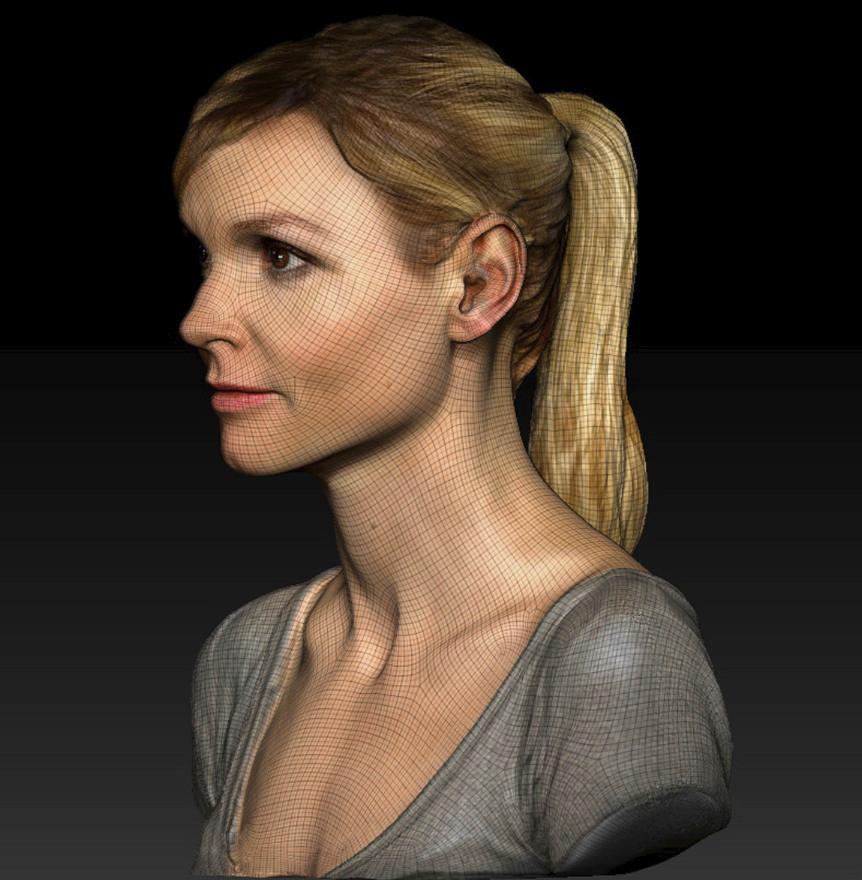maillage haute définition - numérisation 3D - scan 3D - cinéma - WAOLab