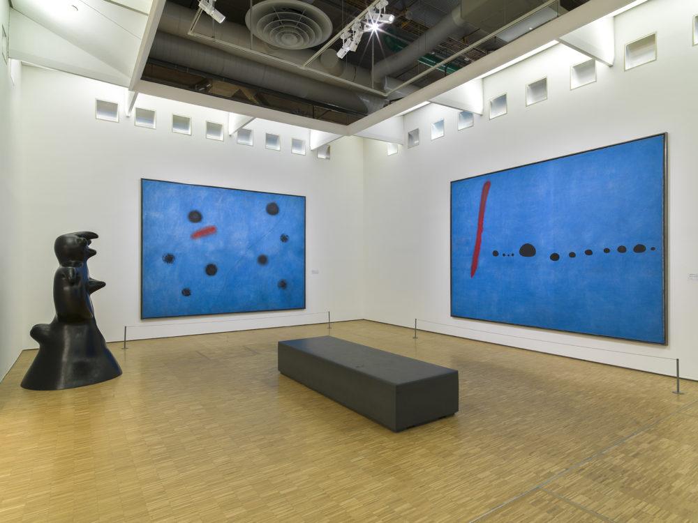 Salle actuelle des trois Bleus, Centre Pompidou, Musée, 2020